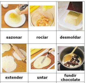 verbos para cocinar