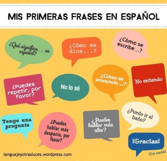 mis primeras frases en español