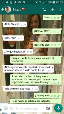 Hacer planes en español. Ir al cine
