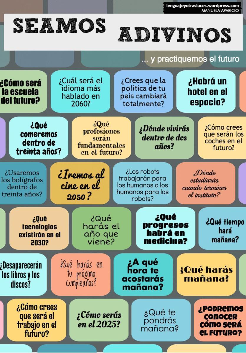 Seamos adivinos... y practiquemos el futuro en español