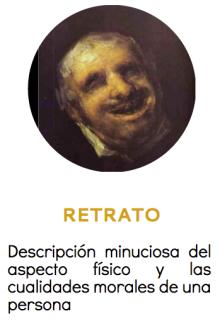 Ejemplo de texto descriptivo. El retrato
