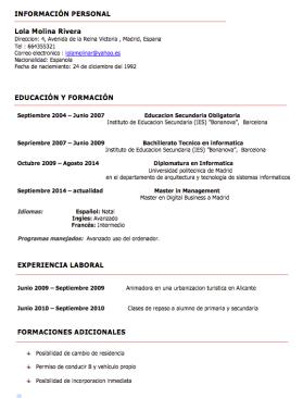 ejemplos de curriculum vitae
