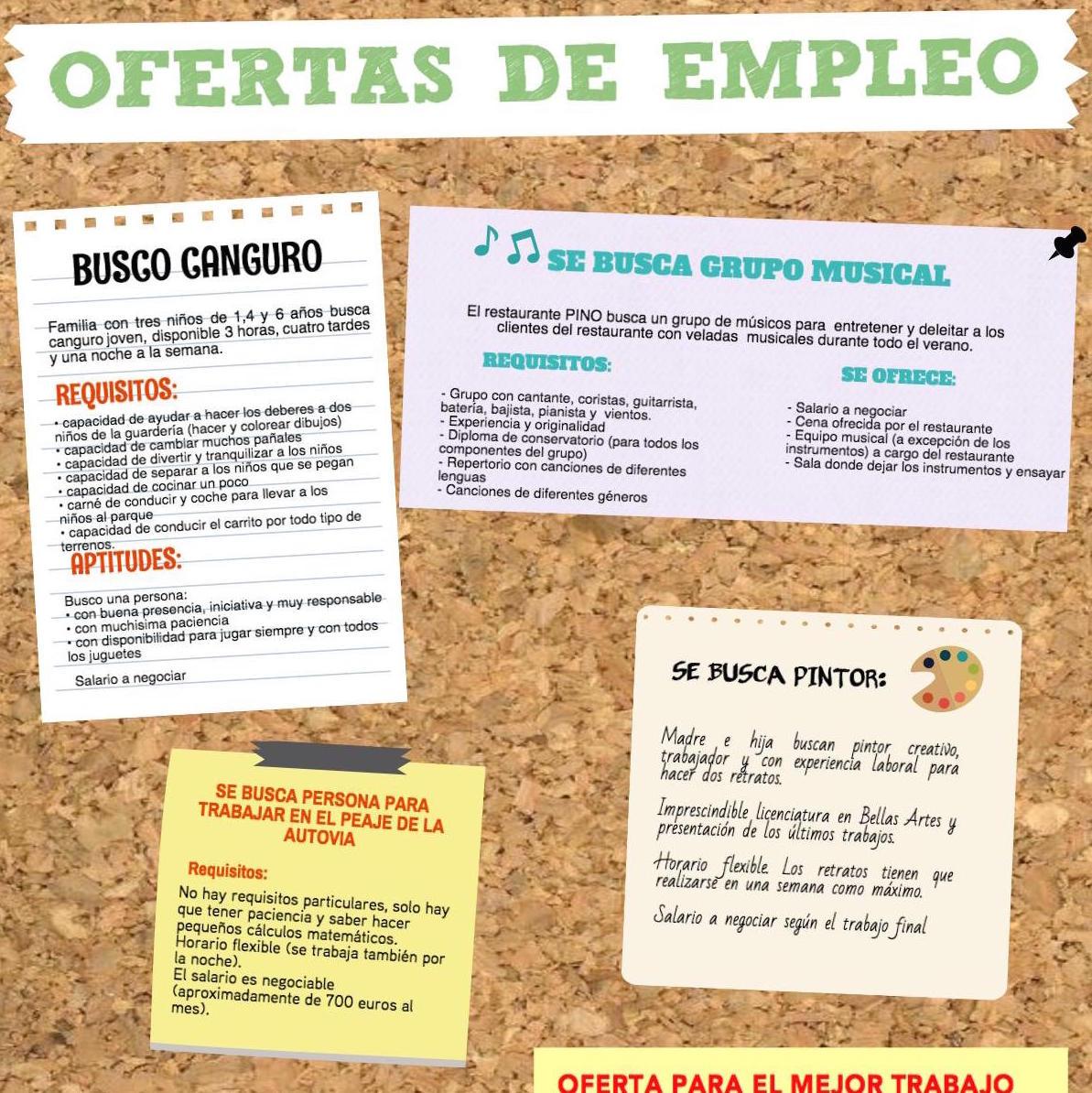 El mundo laboral la oferta de trabajo la entrevista y el cv lenguaje y otras luces - Busco trabajo de limpieza de casas por horas ...