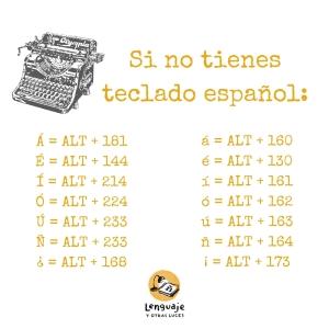 nuestras teclas. Adaptación teclado español