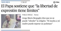 noticia el país libertad de expresión papa