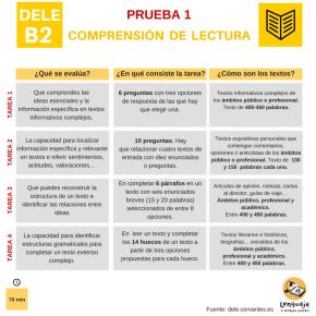 DELE B2: comprensión de lectura. Modelos de examen yconsejos